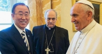 Ban-Ki Moon, Pope Francis, Bishop Sanchez Sorond